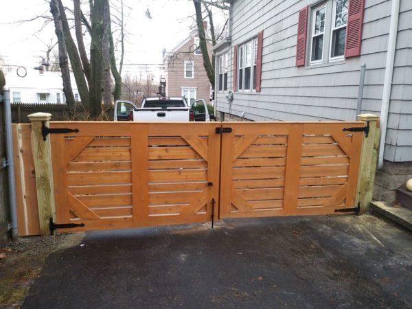 Residential Wood Gate